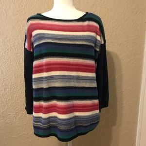 NWOT Chaps Striped Multicolor Sweater